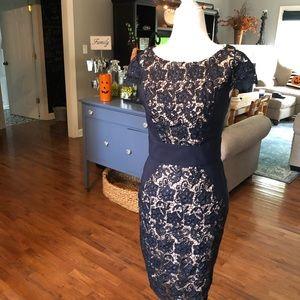 Jessica Simpson NAVY DRESS Size 2 Sheath